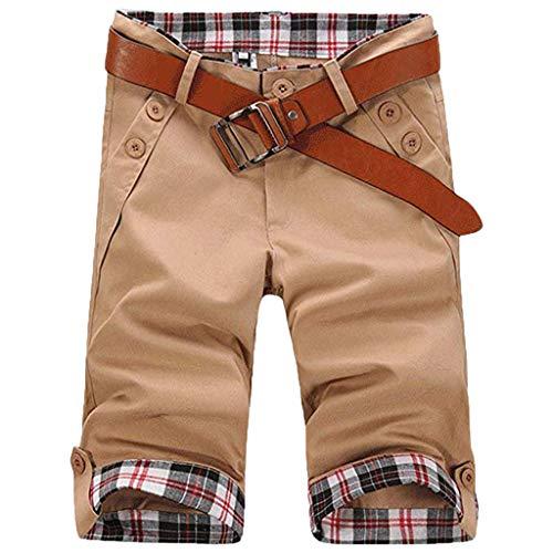 Oxford Woven Dress Shirt (Floweworld Herren Sport Shorts Sommer Slim Fit Plaid Button Lässige Jogginghose Einfache Drawstring Shorts Pant)