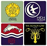 Game of Thrones Season 1 + 2 Sigil Untersetzer Set