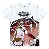 BRS Black Rock Shooter T-Shirt Kostüm Cosplay Weiß