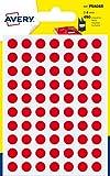 Avery Italia PSA08R Etichette Adesive Rotonde, A6, Rosso