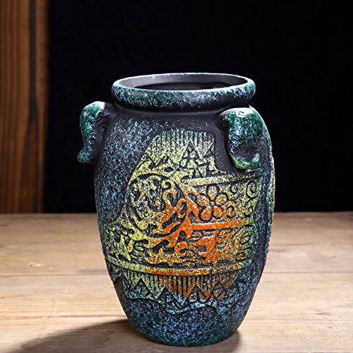 XHZJ Vintage Keramik Töpfe 6 Style, Gewürztöpfe, Master Töpfe, grobe Tontöpfe, kreative Persönlichkeit, kleine und mittelgroße fleischige mediterrane Blumentöpfe (Größe : Style 5)