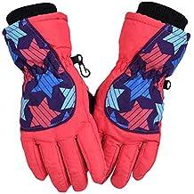 Hiver En Plein Air Enfants Ski Gants Imperméable Coupe-Vent Gants Chauds En  Molleton Doublé 6f2d3b6a97e