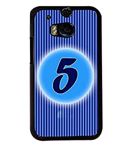 Fuson 2D Printed Numerology Designer back case cover for HTC One M8 - D4222
