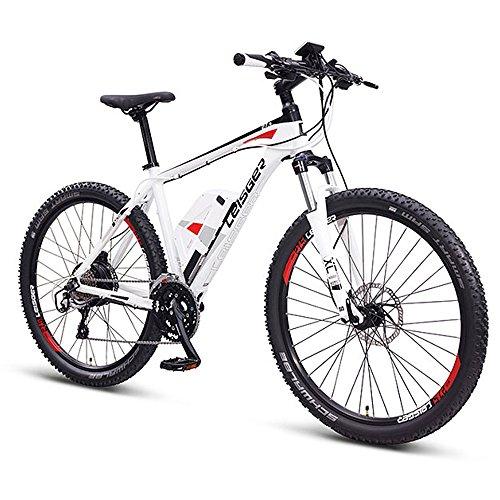 Leisger® MD5,E-MTB,E-Bike Mountainbike,36V 13Ah Samsung Zellen,matt weiß/rot (Rot Und Weiß-leis)