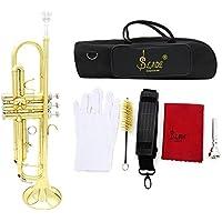 Andoer® Trompeta Bb B Flat Latón exquisito con Guantes Boquilla