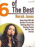NORAH JONES - 6 of the best Songbook piano/vocal/guitar mit Bleistift -- Die 6 beliebtesten Hits der Sängerin u. a. mit COME AWAY WITH ME arrangiert für Klavier, Gesang und Gitarre (Noten/Sheet music)