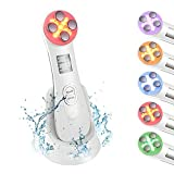 Ultrasonic beauty device,5in1 Multi-function Facial beauty device,6 Modes LED Therapy Beauty Machine Mesotherapy