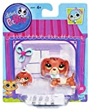 Littlest Pet Shop #3601 Dachshund and #3602 Baby Dachshund Pets