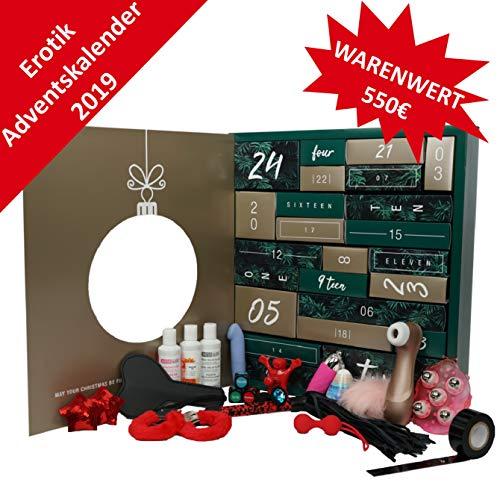 Erotischer Adventskalender 2019 für Erwachsene Paare mit 24 erotischen hochwertigen Geschenken für SIE und IHN Erotik Weihnachtskalender SEX Toy Adventskalender