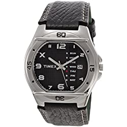 Timex Fashion Analog Black Dial Men's Watch - EL03