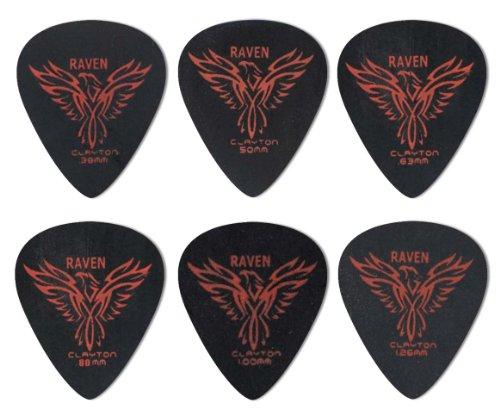 steve-clayton-black-raven-mediators-pour-guitare-lot-de-12