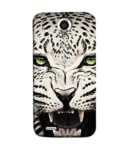 FUSON Designer Back Case Cover for Lenovo S820 (Jungle King Stearing Angry Roaring Loud Aslan Panther)