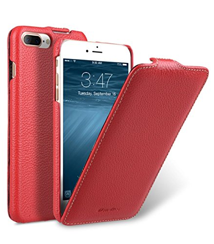 Apple Iphone 7 Melkco Jacka Type Premium Leather Case with Premium Leather Hand Crafted Good Protection,Premium Feel-Red LC Red LC 3