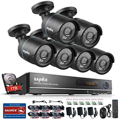 SANNCE AHD 1080N 8 Canali Network Digital Video Recorder Video Sorveglianza Videoregistratore del Sistema HDMI P2P Telecamere di Sicurezza Impermeabile IP66 Sistema di CCTV Kit di Sorveglianza 6 Bullet Camere 3,6MM con 1T HDD