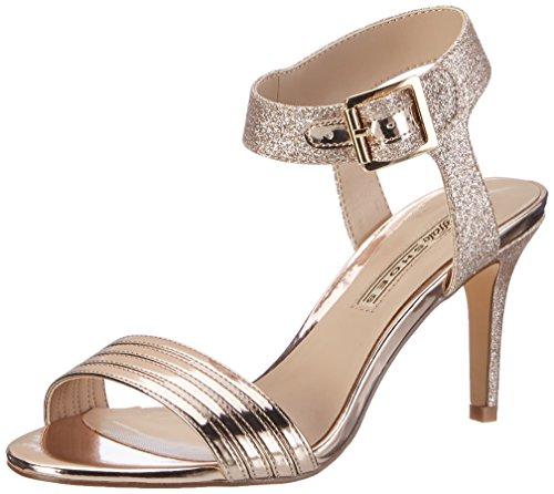 Buffalo Shoes Damen 14S23-12 Metallic PU Glitter Knöchelriemchen, Mehrfarbig (Rose 23), 40 EU