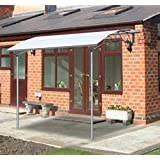 Outsunny 2.1m x 2.65m Deluxe Awning Canopy Metal Wall Sun Shade Gazebo Door Porch Garden Marquee Shelter