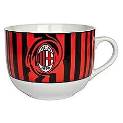 Idea Regalo - Tognana OM085633002 Tazza Colazione Olimpia Milan, Porcellana, Rosso/Nero