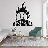 zxddzl Fireball Baseball Wandtattoo Mordern Vinyl Aufkleber Für Wohnzimmer Dekoration Abnehmbare Wandkunst Dekor Home Nursery Decor 42X50 cm