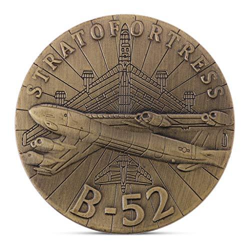 lixiaoxuty B-52 Strategischer Bomber mit Subsonic-Jet-Antrieb zur Gedenkmünzensammlung. Geschenk-Souvenir (B 52-bomber)