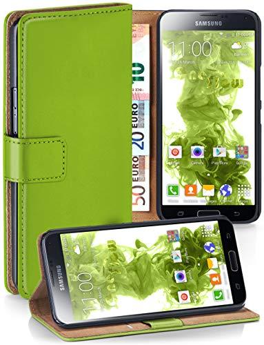 MoEx® Booklet mit Flip Funktion [360 Grad Voll-Schutz] für Samsung Galaxy S5 Mini | Geldfach und Kartenfach + Stand-Funktion und Magnet-Verschluss, Grün
