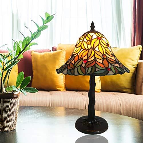 SXFYWYM Tischlampe Tiffany Minimalismus Retro für Schlafzimmer Wohnzimmer Hauptbeleuchtung Nachtlicht,Color,28X43.5CM