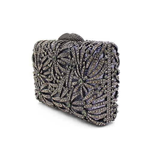Damen-Abendessen Set Strass Diamanten und Diamanten High-End-Diamant-Wallet Glänzende Handtasche Bankett Black