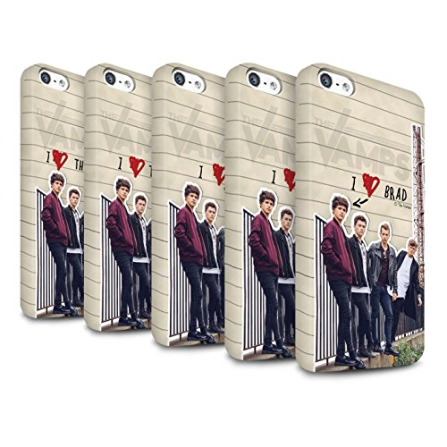 Officiel The Vamps Coque / Clipser Matte Etui pour Apple iPhone SE / Pack 5pcs Design / The Vamps Journal Secret Collection Pack 5pcs