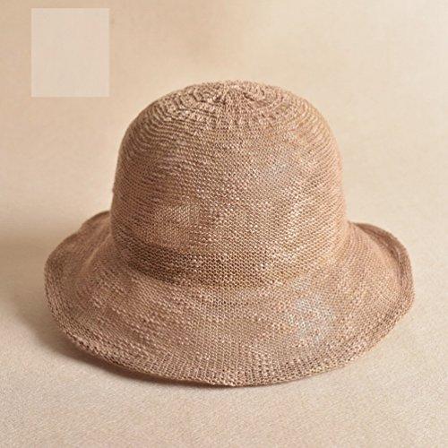 Faser Hut Hut Sommer Sommer Gezeiten Wild Becken Mütze Sonnenschutz Sonnenhut,Khaki (20er Jahre Kostüme Für Paare)