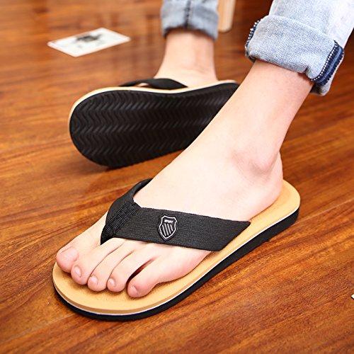 Men's Big size tongs, men's summer porter des pantoufles pour hommes, salle de bains, antidérapant pieds cool rdp, men's casual chaussures de plage Brown
