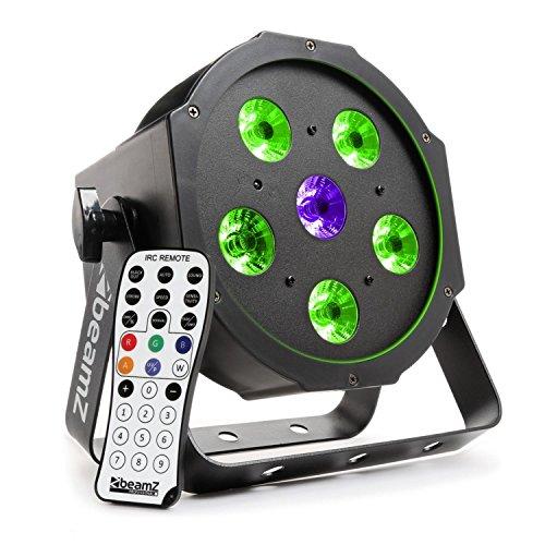 Beamz bfp110FlatPAR LED Strahler (5x 6W Leistung, 3in 1Kombination von Farben, Autonomer DMX-Modi und Fernbedienung)-Schwarz - Energy-star-wand-beleuchtung