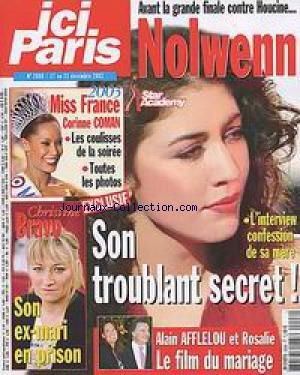 ICI PARIS [No 2998] du 17/12/2002 - NOLWENN - STAR ACADEMY - MISS FRANCE - CORINNE COMAN - CHRISTINE BRAVO - ALAIN AFFLELOU ET ROSALIE.