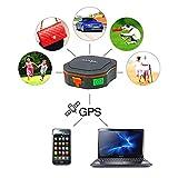 TKSTAR Mini Rastreador GPS Portátil, Mascotas Vehículos para Gatos de Perros Niños Ancianos Mini GPS Navegación al Aire Libre SOS Rastreo de GPS a Prueba de Agua Ubicación en Tiempo Real con La Aplicación Gratuita para Android y iPhone Impermeable Perseguidor Localizador del GPS Tracker GPS Sistema de Seguimiento de AGPS GSM TK1000