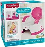 Mattel Fisher-Price CGY50 Komfort Töpfchen mit bequemer hoher Rückenlehne und Ablage für die Arme, pink