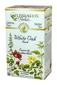 Celebration Herbals White Oak Bark Tea Organic Gluten Free -- 24 Tea Bags