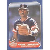 1986 Fleer # 596 Andre Thornton Cleveland Indians Baseball Card