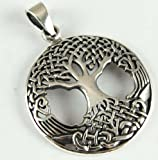 Pendant Silver Tree Celtic In Circle