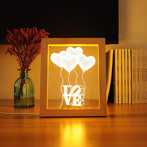 T-YXM 3D LED-Kiefer Foto Frame Lampe Liebe Ballon am Krankenbett Dekoration USB-nachtlicht Festival Geschenk