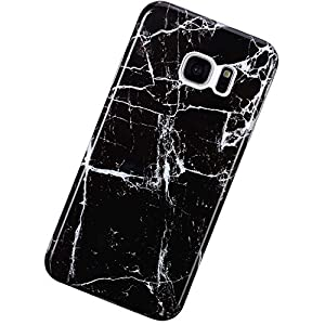 Urhause Kompatibel mit Samsung Galaxy S7,Mode Kreativität Ultra Slim Marble Pattern Weiche Silikon Handyhülle TPU…