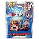 Yo Kai Watch YK17010 Set Regalo, Orologio Da Polso Digitale Più Portafoglio In Poliestere, Bambino, Multicolore
