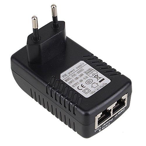 WEONE Adattatore Ethernet PoE Power Supply corso EU standard AC 100-240V 50 / 60Hz a DC 48V 0.5A