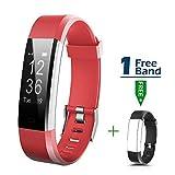 MOCRUX Smart Fitness Tracker mit Herzfrequenzmesser Fitness Armband Wasserdicht HR Fitness Tracker mit Ein Ersatzarmband