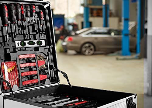Monzana® Werkzeugkoffer gefüllt 729tlg ✔ abschließbar ✔ Aluminium Rollkoffer ✔ inkl. vielseitigem Zubehör & Arbeitshandschuhen ✔ Modellauswahl – Werkzeugkasten Werkzeugkiste Werkzeug Trolley bestückt - 2
