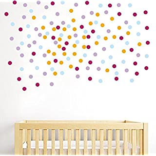anber Mix Color Polka Dots Wall Sticker For Kids Room Children Home Decor Creative Removable Living Room DIY Vinyl Stickers