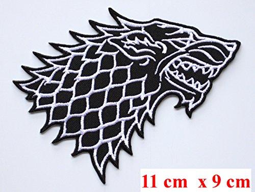 Juego Tronos Casa Stark Direwolf bordado hierro en/coser