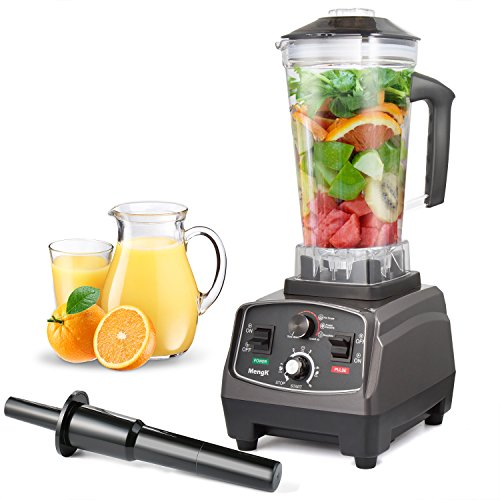 Standmixer Mixer MengK 1400W High Speed Elektrische Total Nutrition Food Processor mit 67 Unzen BPA-Free Pitcher für Eis Obst Gemüse Smoothies Suppen Mayonnaise, etc - (Gewerbe / Küche)