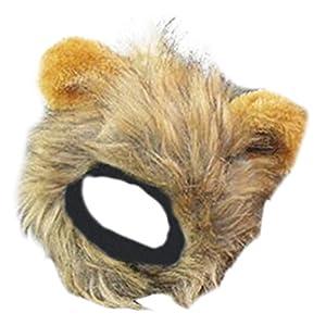 AIYUE® Perruque du Lion Crinière de lion avec oreilles mignon pour Chat Chaton Chapeau Crinière Déguisement Pet Costume