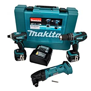 makita set 3 maschinen dk14001sx1 bohrmaschine. Black Bedroom Furniture Sets. Home Design Ideas