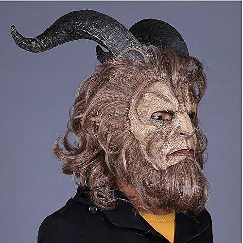 VAWAA Schönheit Und Das Tier Maske Overhead Kapuze La Belle Et La Bete Masken Kostüm Tier Beängstigend Horror Marvel Heroes Dc Prop