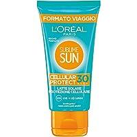 L'Oréal Paris Crema Solare Sublime Sun Cellular Protect, Protezione Solare Alta IP30 per Pelli Sensibili, Formato Viaggio 50 ml