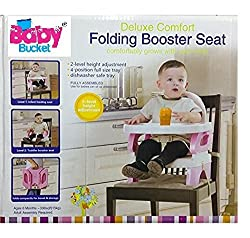 BABY BUCKET DELUXE COMFORT FOLDING BOOSTER SEAT (PINK) by House Of Gifts